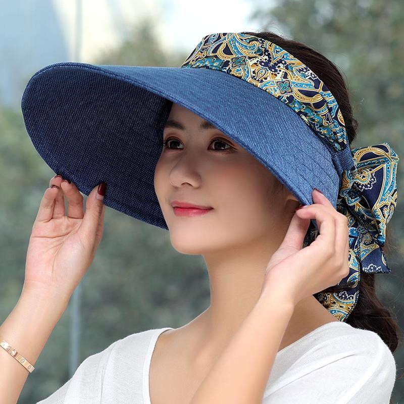 Students learn driving license sun hat with horsetail sun hat sun protection for children can tie up hair and adjust small head circumference