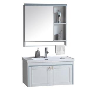 太空鋁浴室櫃小户型衞生間洗臉盆櫃組合簡約現代洗手盆洗漱台掛牆