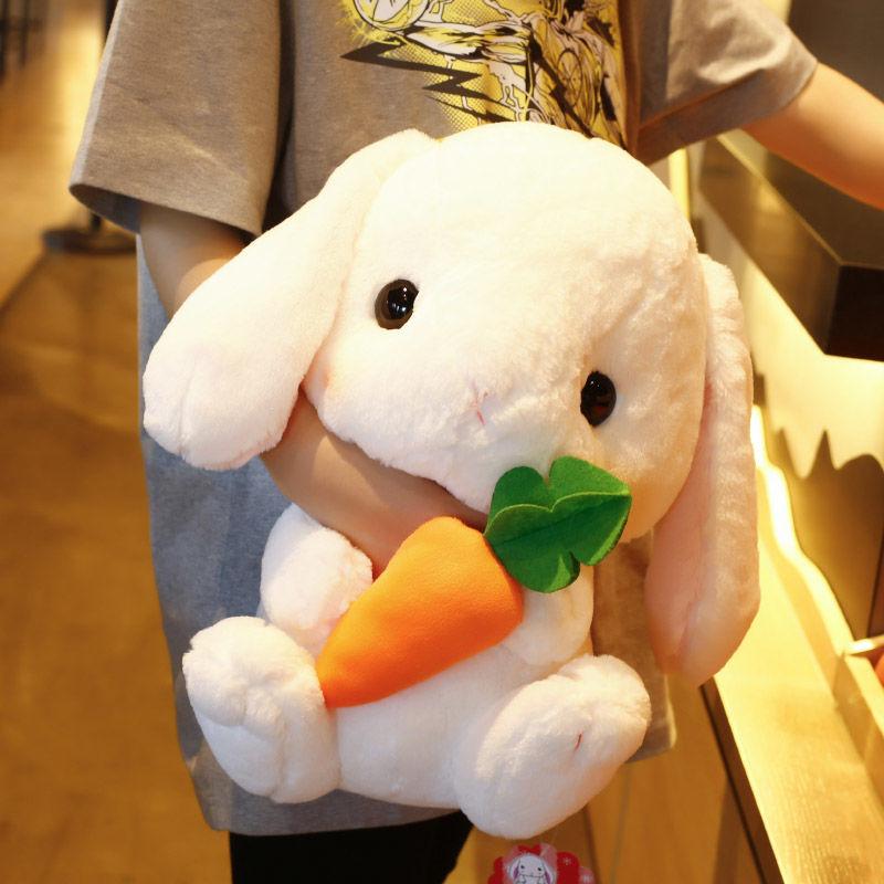 长耳兔子公仔毛绒玩具小兔子玩偶床上布娃娃抱枕女生可爱生日礼物
