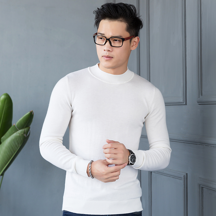 2021 new mens tooling style round neck knitted sweater undercoat sweater