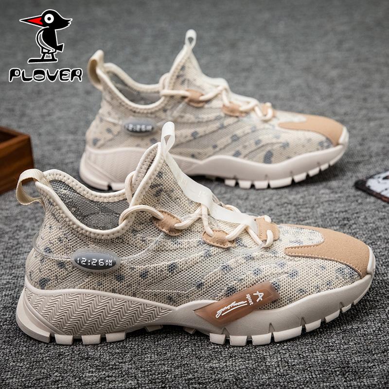 Plover男鞋2020新款秋季透气网面韩版潮流运动休闲鞋旅游鞋跑步鞋