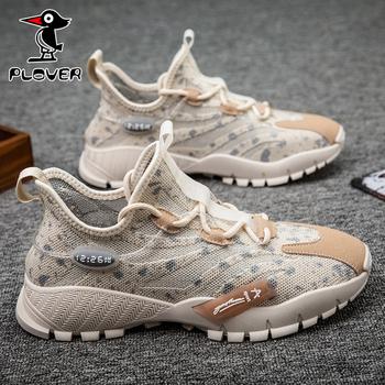 Plover男鞋2020新款夏季透气网面韩版潮流运动休闲鞋旅游鞋跑步鞋
