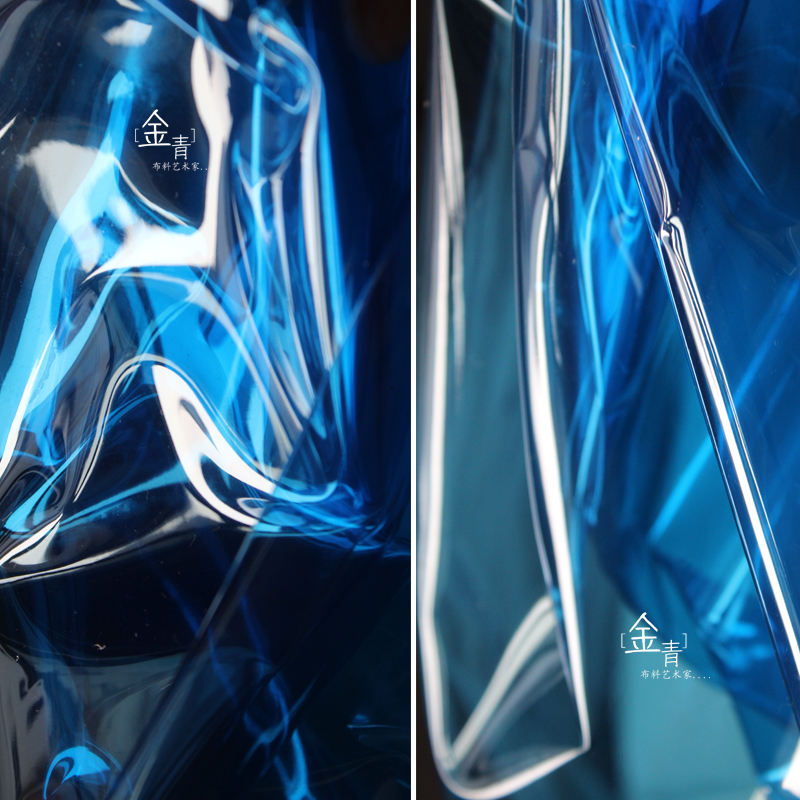 Cold ice blue liquid film magic color TPU raincoat waterproof is better than PVC Wedding Designer graduation fabric