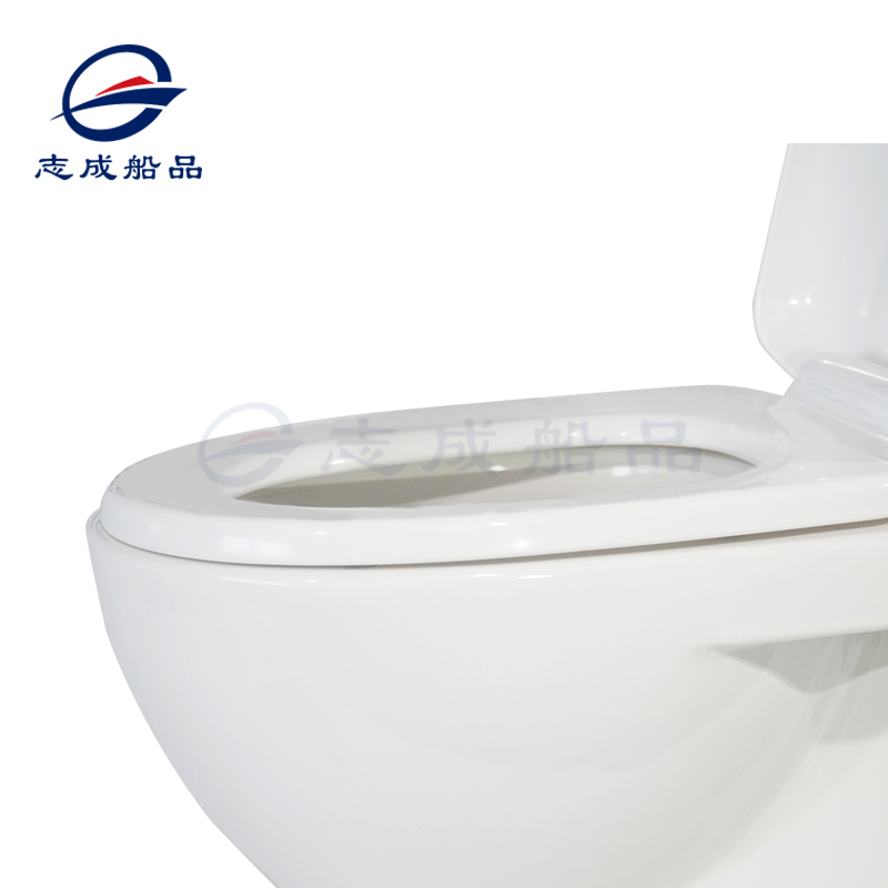 志成游艇船舶房车12V/24V带吸水功能马桶陶瓷白色出口品质专用