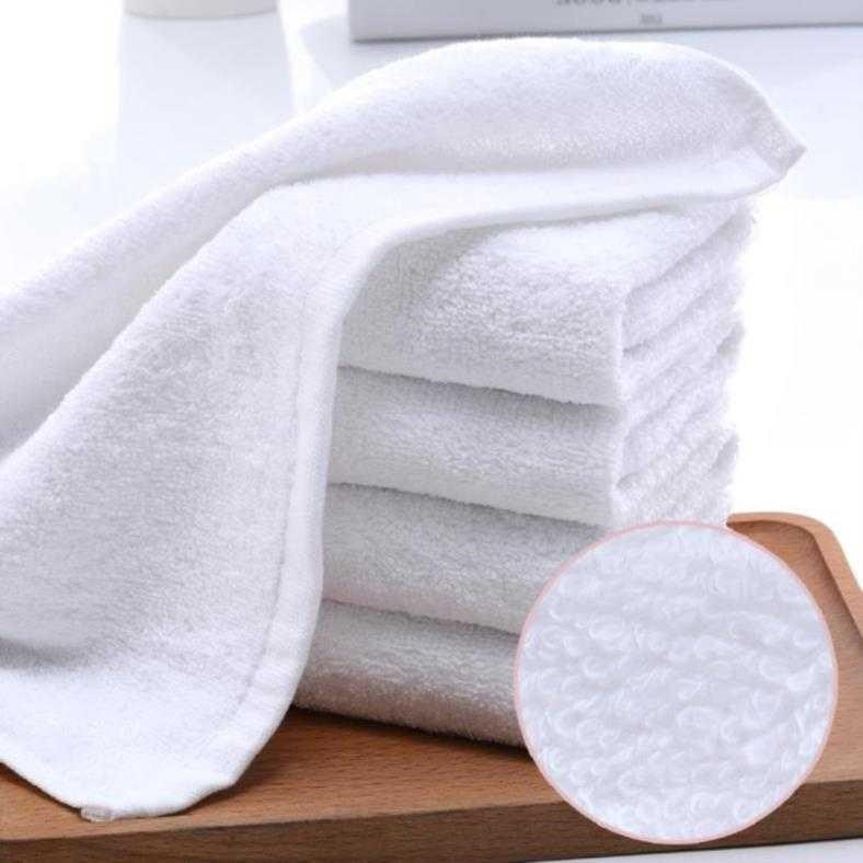 Custom restaurant, shop, cake, bath cloth, hotel towel, hand and foot therapy can be made in pure white
