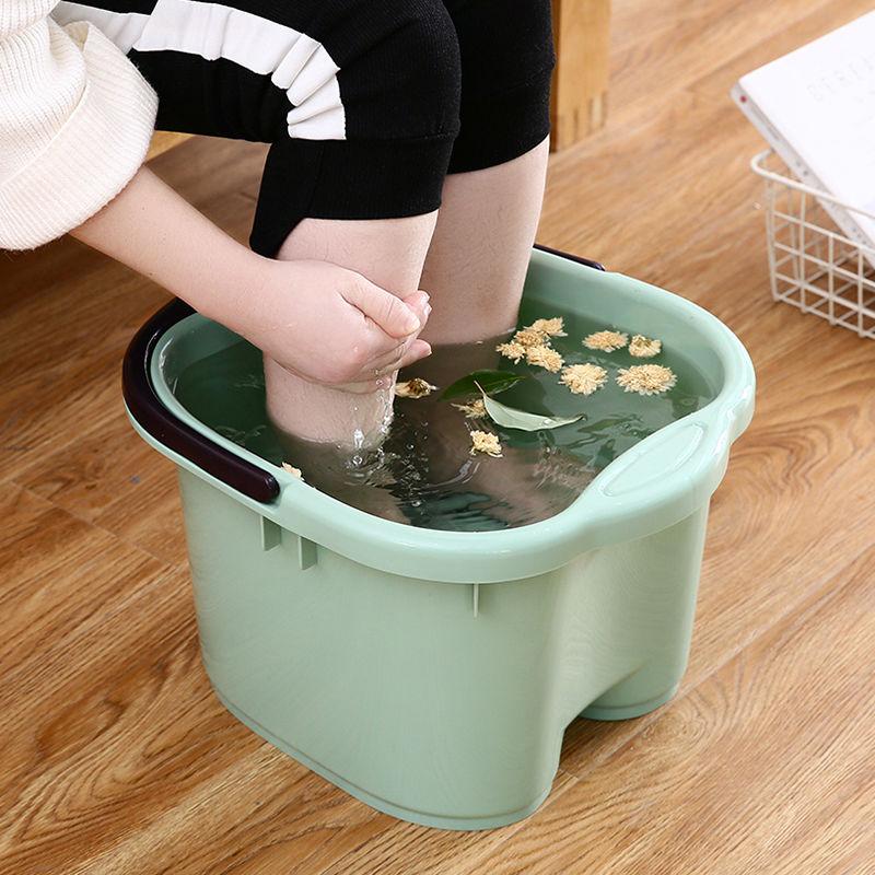 泡脚桶过小腿泡脚盆家用塑料洗脚盆洗脚桶足浴盆按摩高深桶24