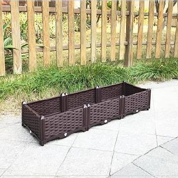 特大号四季实用家里盆架种植箱特大栅栏花园种菜神器家庭阳台花。