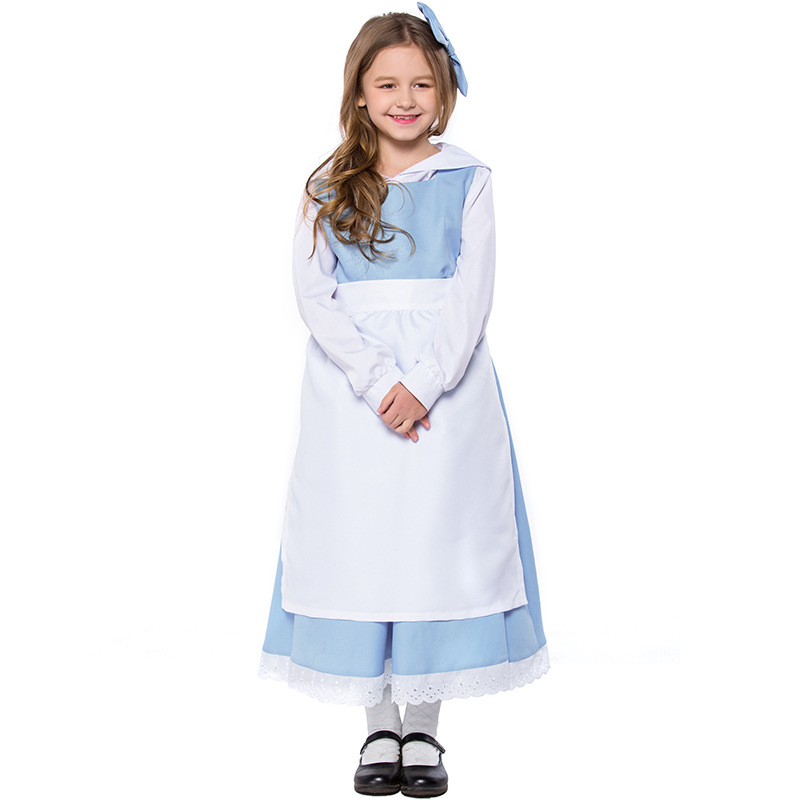 High end Disney fairy tale beauty and beast childrens costume maid Prince costume party stage performance
