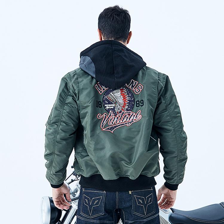正品杜汉冬季摩托车骑行服经典飞行员夹克骑士装备防风保暖休