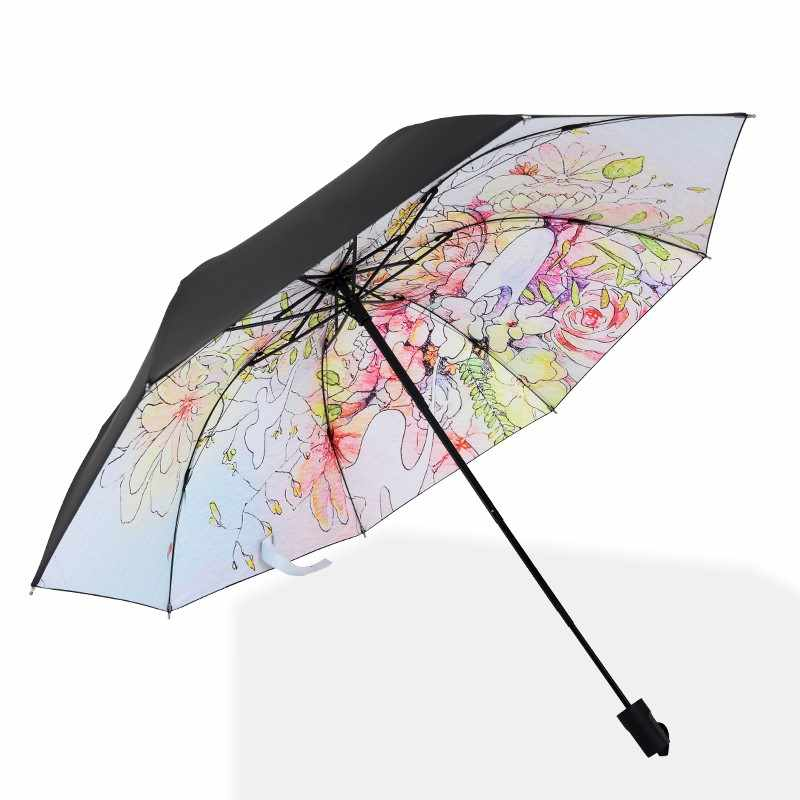 新商品のさわやかな日傘、晴雨両用の傘レースを使って、軽いパラソルのレンコン色を折り畳みます。