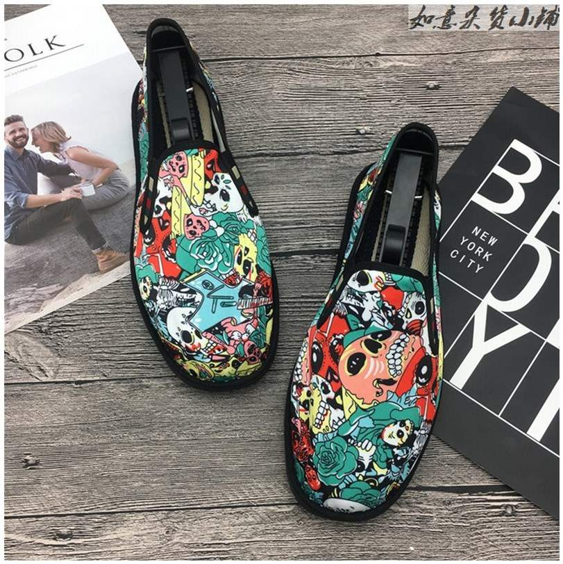 *Chinese style embroidered cloth shoes spring and autumn old style girl Canvas Black Embroidered summer mens shoes pattern