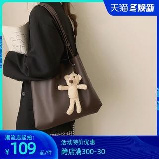 小ck包包女包2020新款潮时尚秋冬百搭大容量托特包小众设计斜挎包