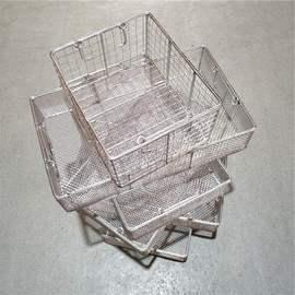 灭菌消毒高温不锈钢304消毒筐器械篮清洗篮食品网篮沥水网筐