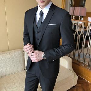 西服套装男士职业伴郎韩版结婚外套