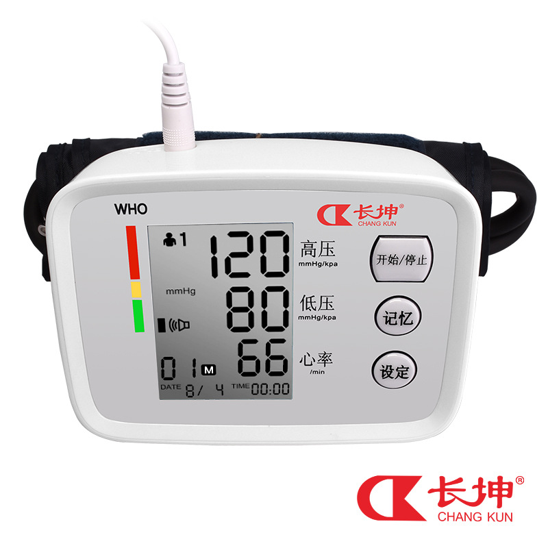 Changkun electronic blood pressure meter is an instrument for measuring blood pressure with automatic high precision upper arm sphygmomanometer