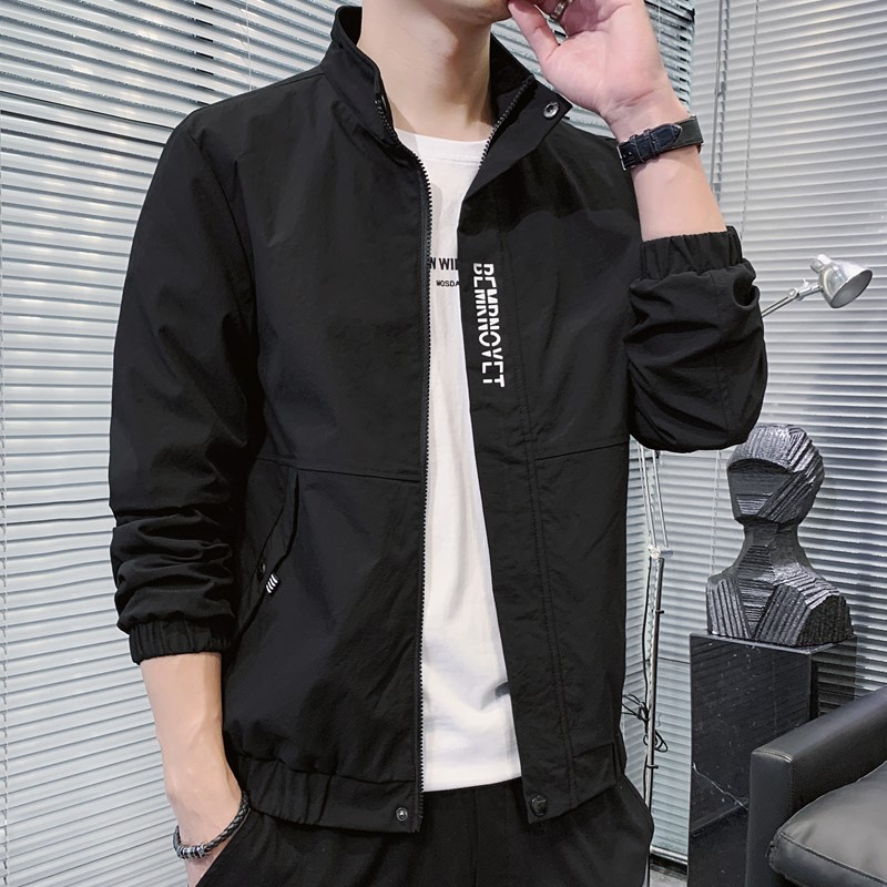 。 Mens jacket jacket autumn new Korean frock collar baseball suit fashion casual hooded jacket men