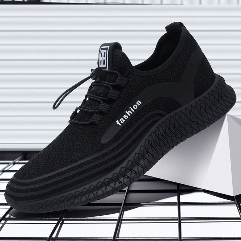 Spring and summer mens shoes super beautiful running shoes travel shoes work sports shoes light shoes all black work shoes are cheap