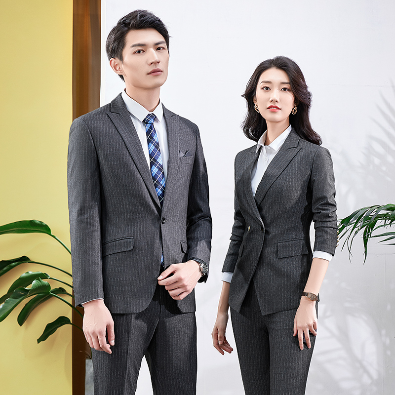 High end mens and womens slim professional wear business custom 4S shop suit Bank of England manager suit