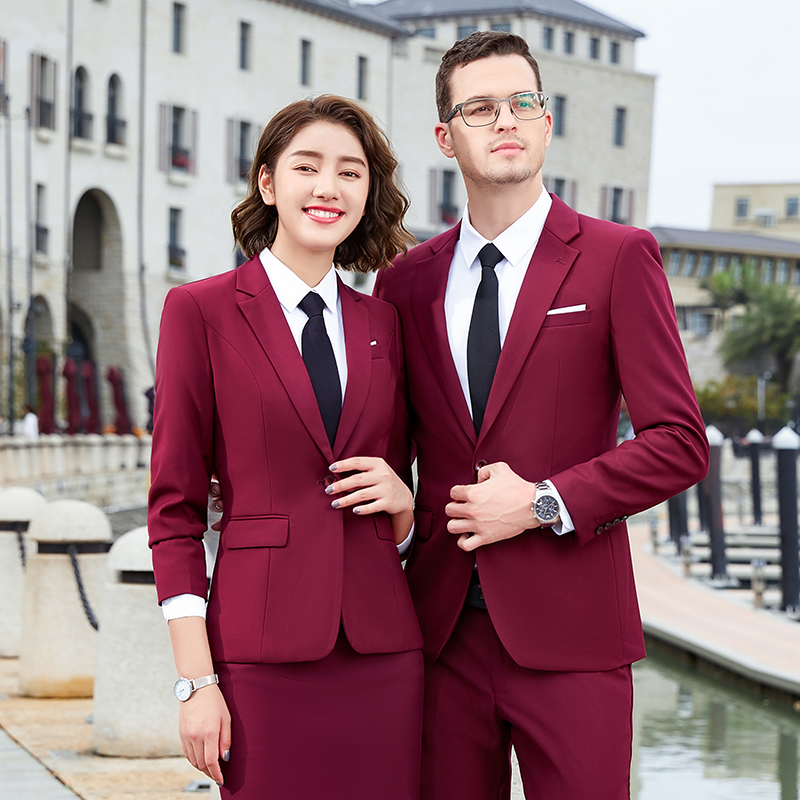 High end mens and womens fit business custom 4S shop suit Bank of England manager interview work clothes