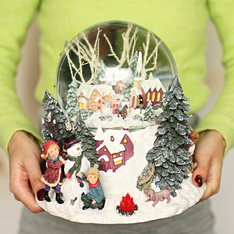 创意生日礼物女生水晶球音乐盒八音盒平安夜圣诞节礼物送女朋友