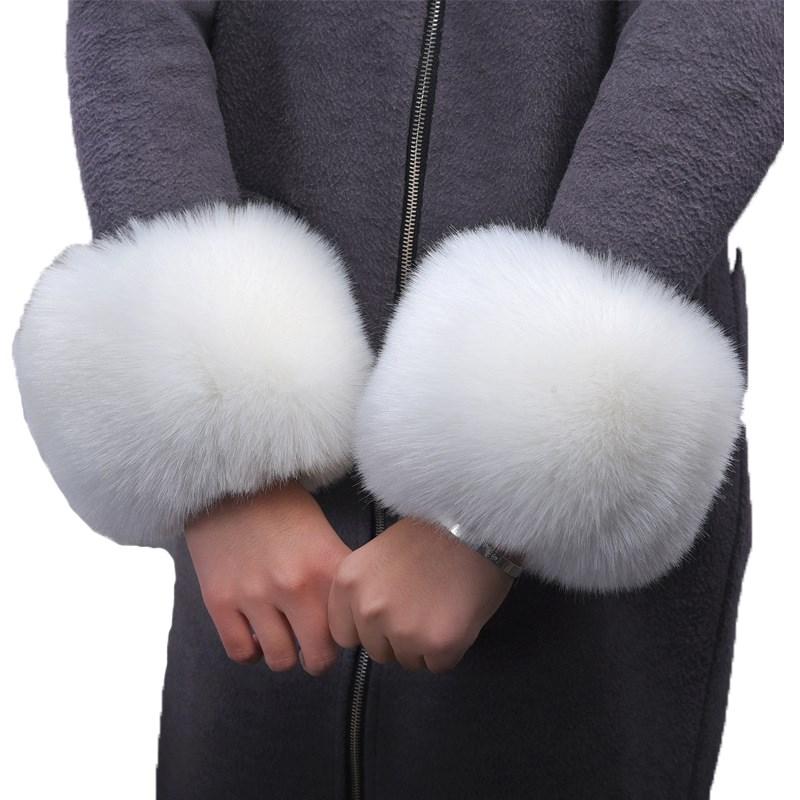 毛护腕服袖套袖套秋冬手镯袖口圈护手环韩毛毛版手袖