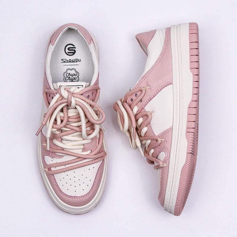 网红粉色真皮包头半拖鞋女潮夏外穿时尚防滑无后跟懒人帆布鞋
