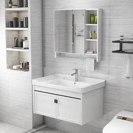 牙膏牙刷台防水板镜框浴室柜组合小户型洗刷欧式公共小款整理置物图片
