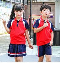 小学生运动会夏季校服毕业服男女儿童短袖学院班服园服套装定制