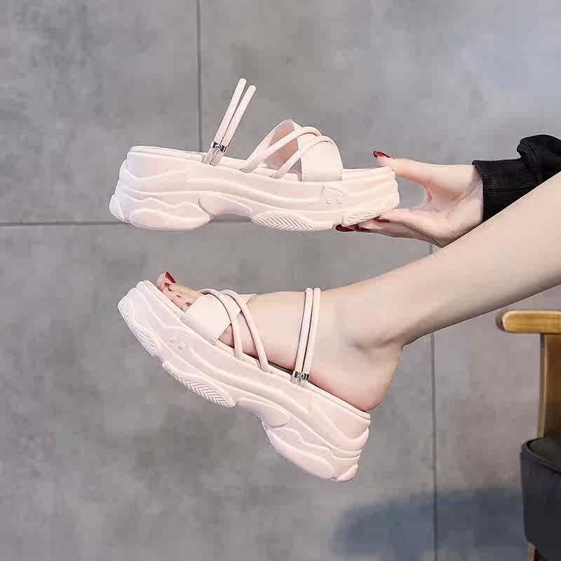 两穿凉鞋2020新款夏季时尚厚底流行风增高女鞋ins潮