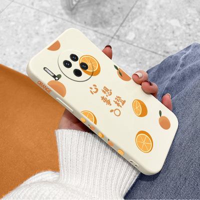 心想事橙华为mate30手机壳女mate30pro直边液态硅胶mate30epro全包防摔mete30侧边图案M30简约创意保护套新款