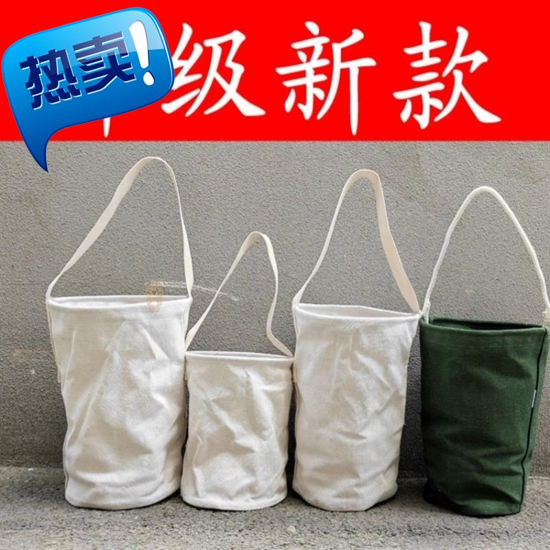 High altitude working h industry wear resistant canvas large capacity white small size solid hand-held BAG canvas bag toilet bag portable