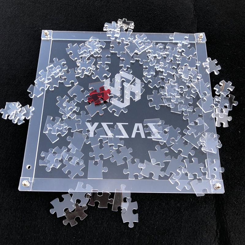 水晶噩梦 透明拼图109片纯白暗黑地狱拼图超难减压jigsaw puzzle
