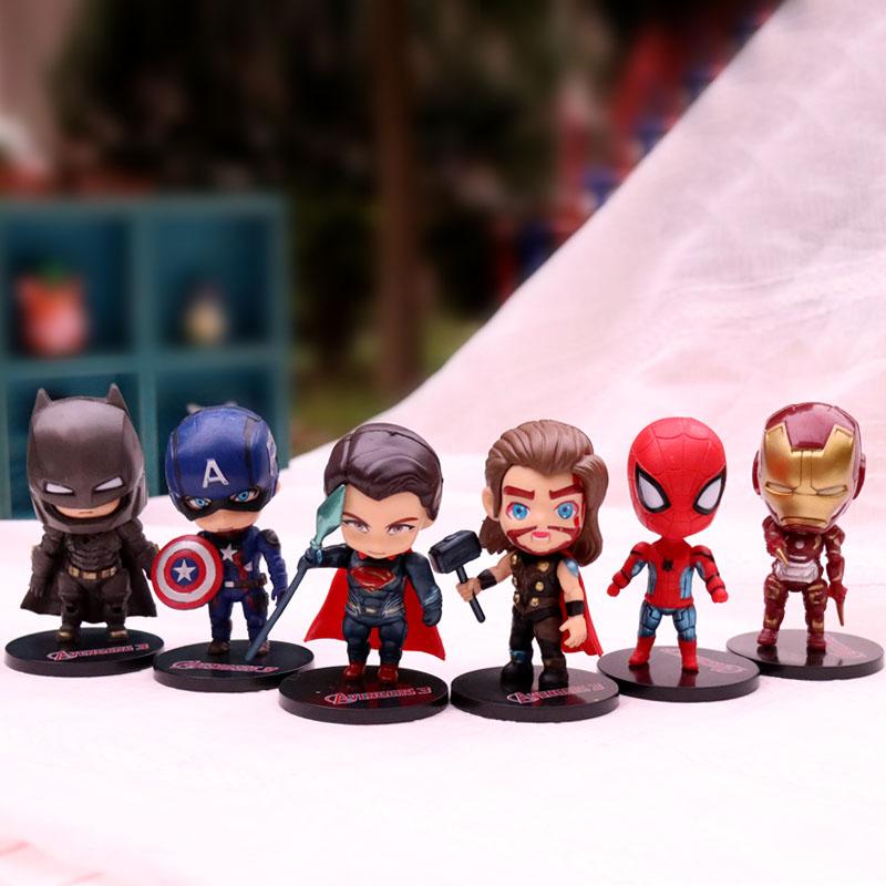 创意生日礼物品复仇者联盟公仔盲盒人偶模型钢铁侠蜘蛛侠手办摆件