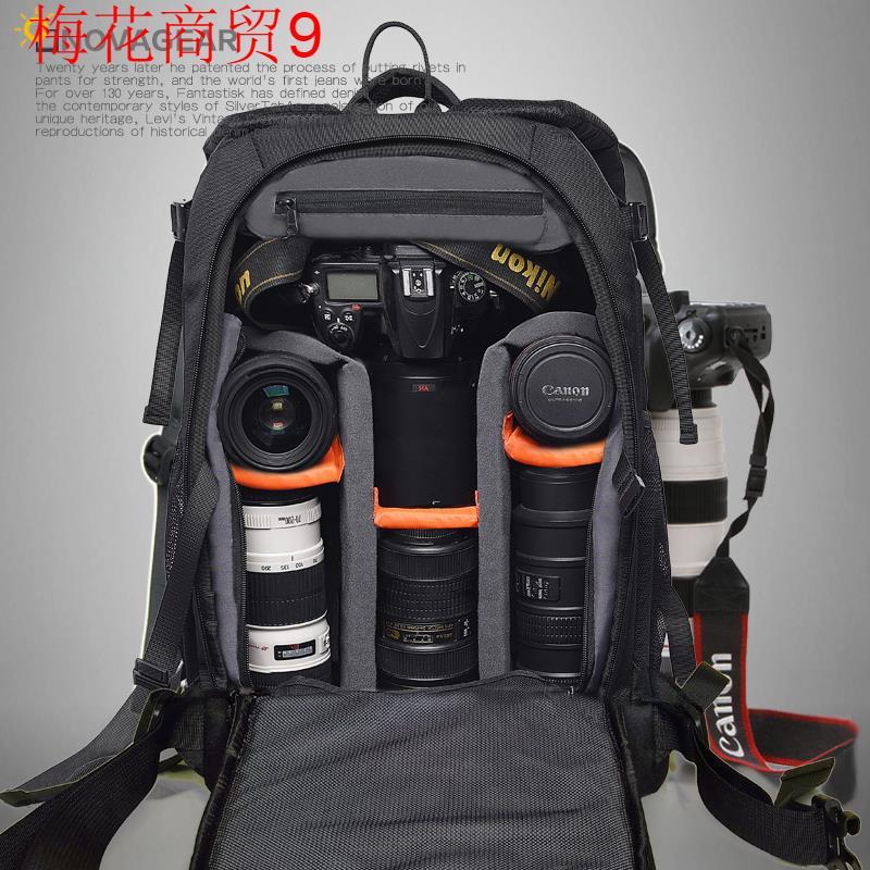 新佳能尼康6d3400相机防盗双肩摄影户外数码单反摄像大容量电脑包