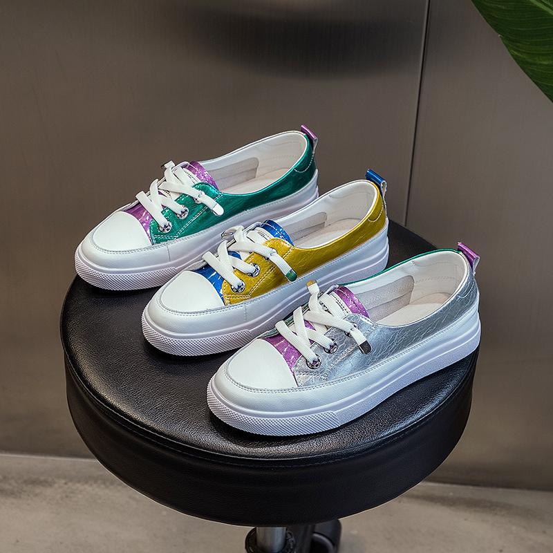 夏季新款时尚大码女鞋40一43平底小白鞋运动百搭轻便特大号单鞋41