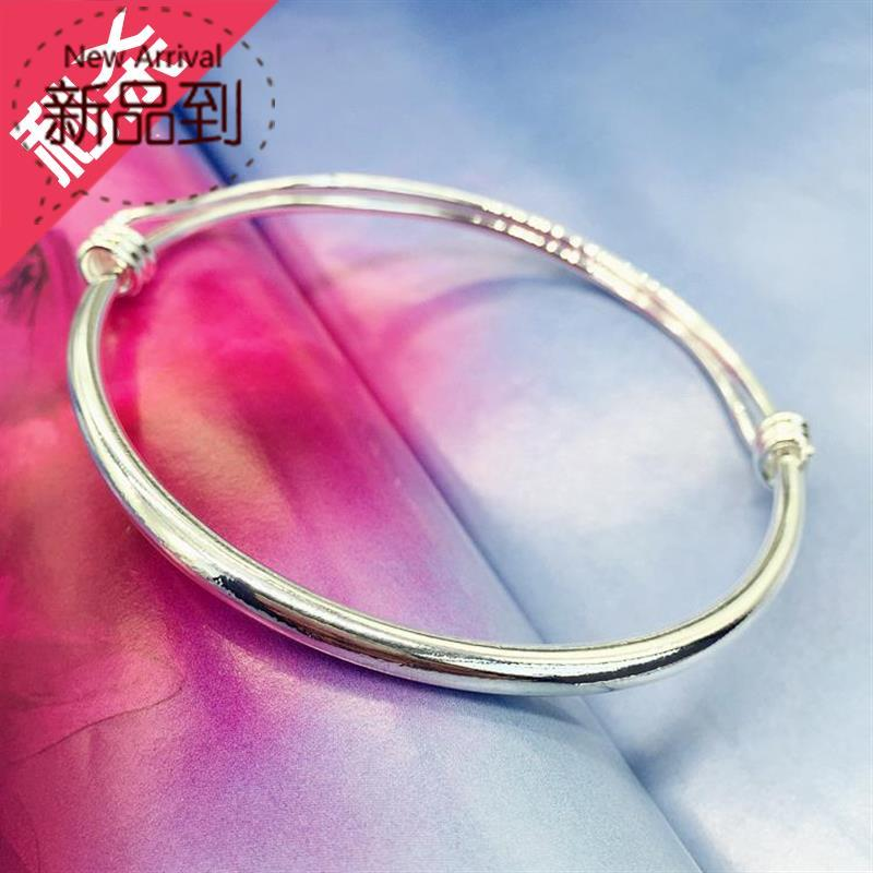 Simple temperament small bell 22 Bracelet Silver New I product ankle ring girl smooth face fashion Korean version