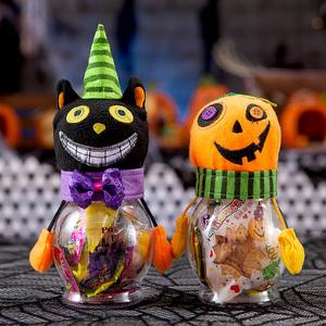 万圣节恶搞南瓜黑猫巫婆糖果罐糖果盒场地布置道具装饰品创意礼物