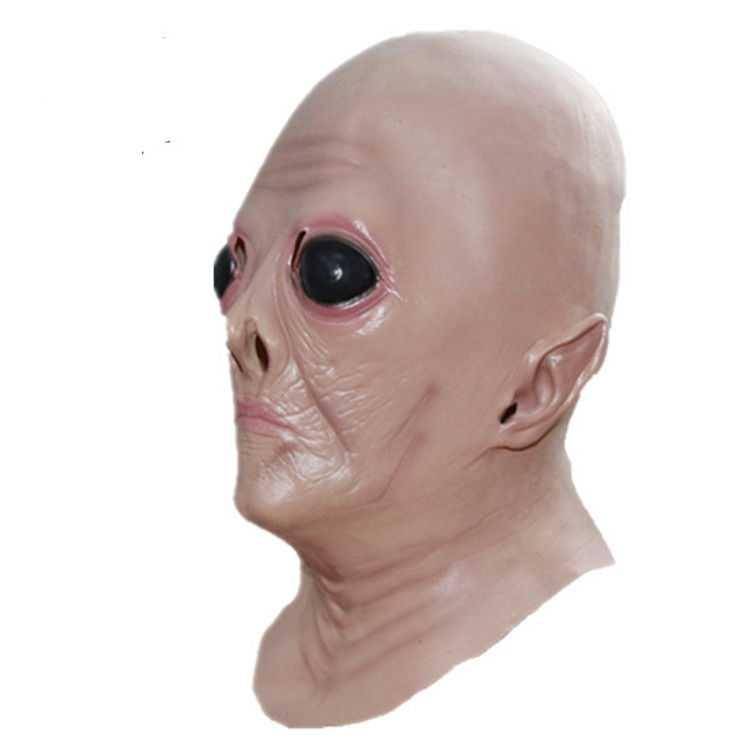 Alien silicone mask full face mask role play ghost house secret room horror spoof props scare.