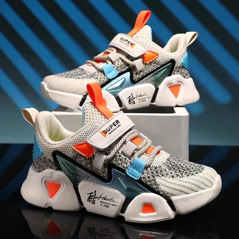 Autumn children's sports shoes, boys, big children's breathable net shoes, student girls' shoes, spring and autumn style little boys sports shoes