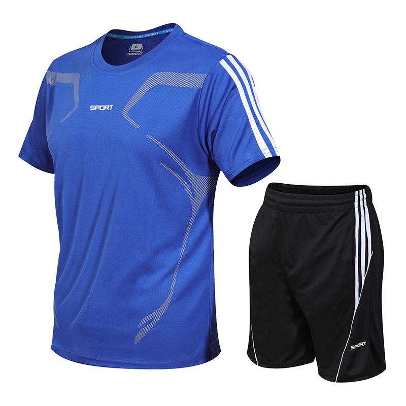 运动套装男夏季健身短袖T恤男士速干衣服跑步宽松休闲运动服大码