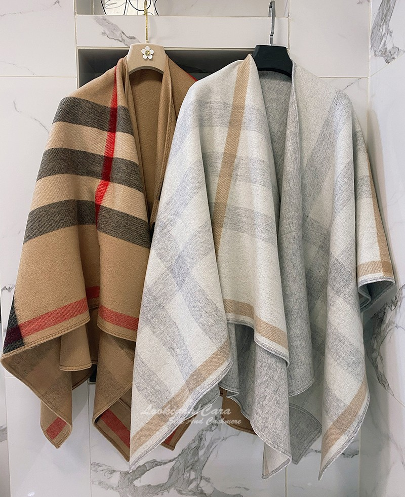 Special! Double sided double-layer dual-purpose European and American British Plaid cashmere wool blended Cape cape coat to keep warm