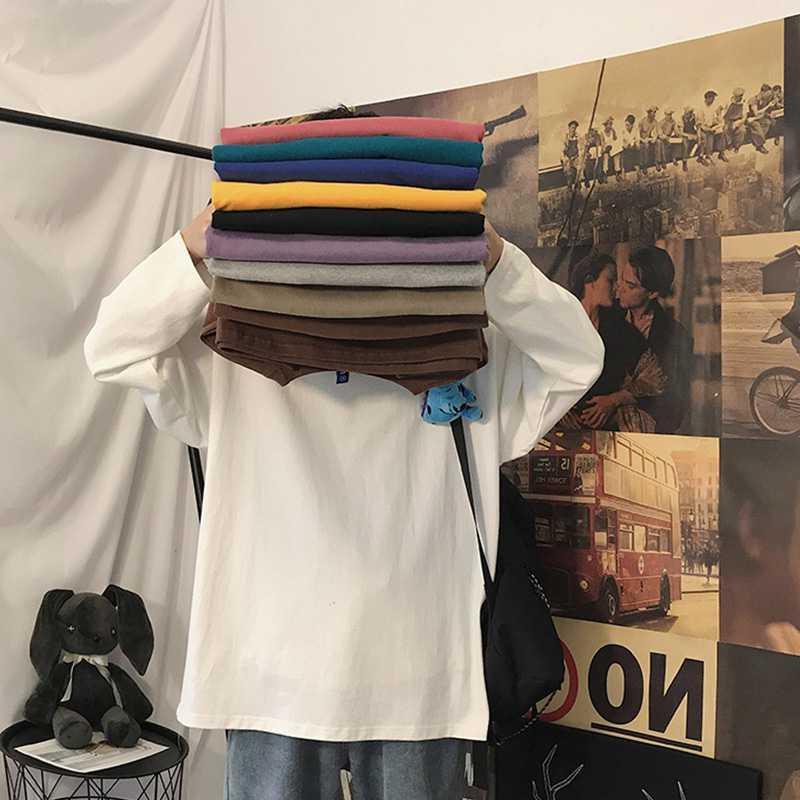 2020年新款纯棉宽松长袖t恤女韩版洋气时尚卫衣夏季薄款打底上衣