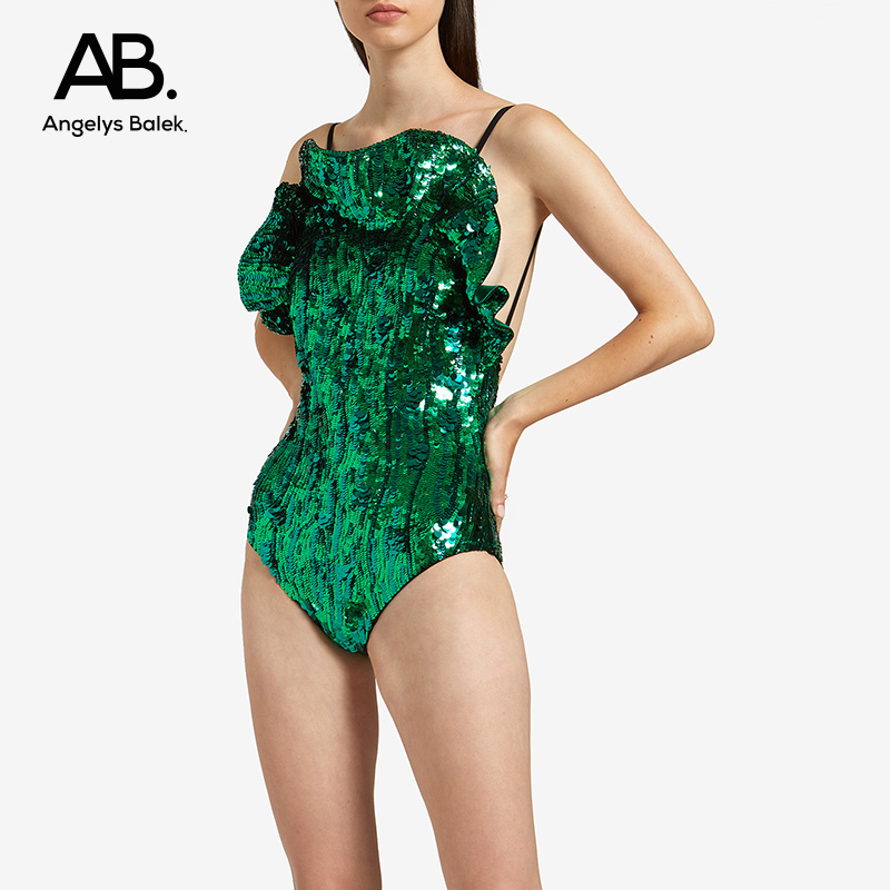 Angelys balek sequins sexy swimsuit for women