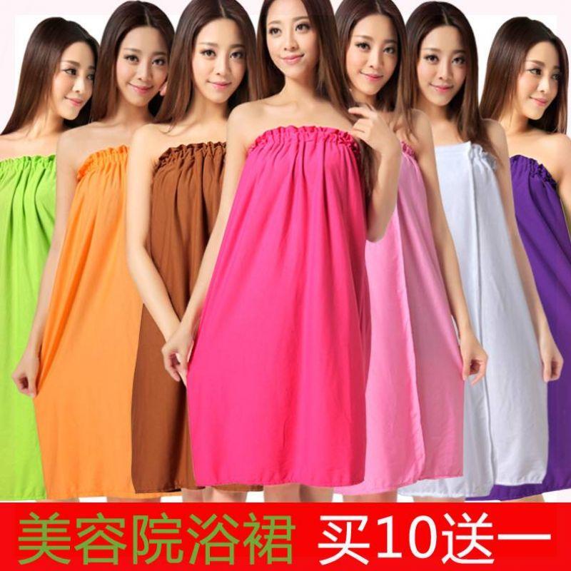 Scarf skirt thin bath towel massage suit bra beauty salon Bath skirt sweet wrap chest guests use.