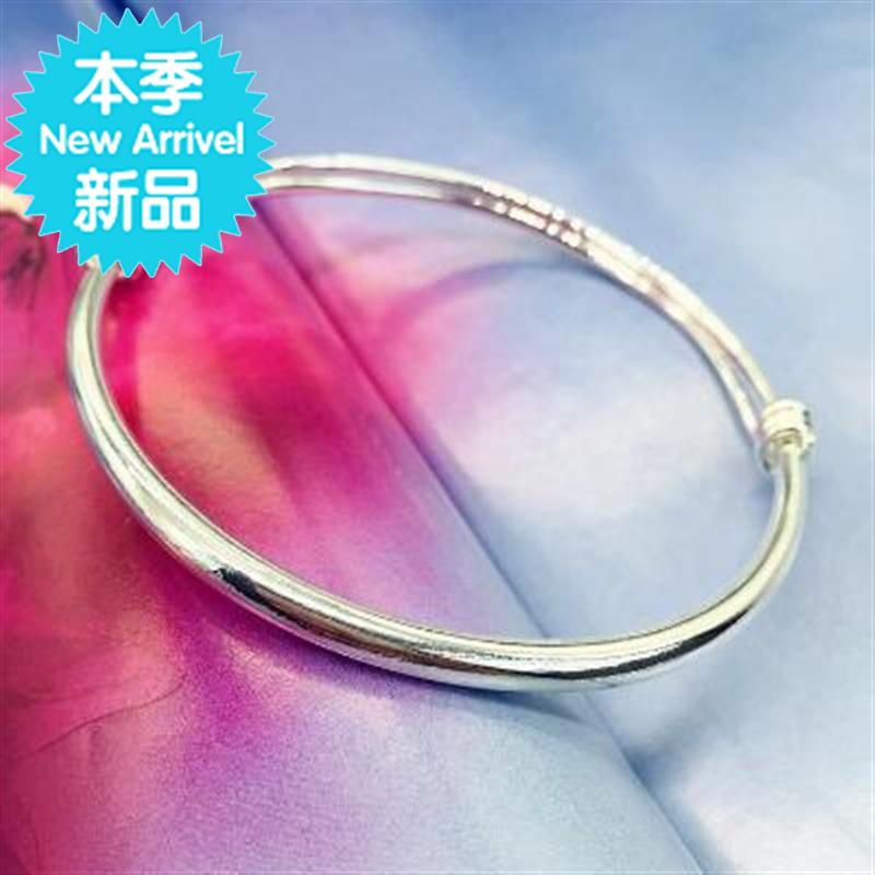 Small bell Bracelet Silver Fashion P Korean version y new temperament foot ring girl smooth face simple chain versatile