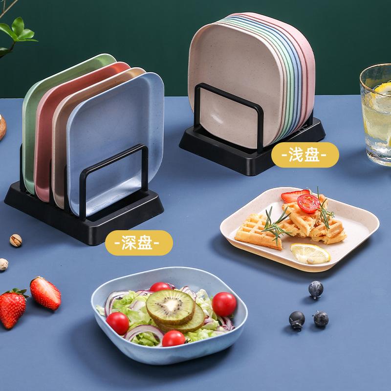 新疆包邮小麦秸秆吐骨碟蘸酱盘塑料PP家用水果盘菜盘餐盘