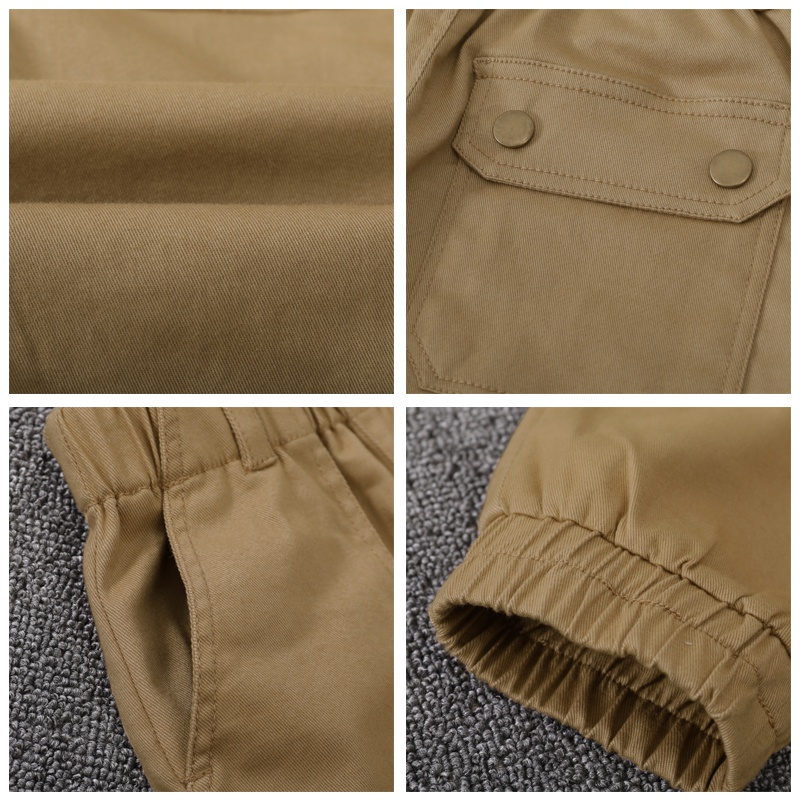 Pants casual childrens wear childrens womens gas pants childrens handsome rest cotton pants are still pure, and mens D style is large in autumn and spring work pants. son