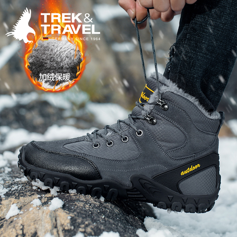 German flying eagle winter cotton shoes mens outdoor snow boots thickened warm northeast short boots antiskid mountaineering tide shoes