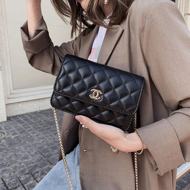 女士斜挎包小香风菱格链条包小方包单肩包