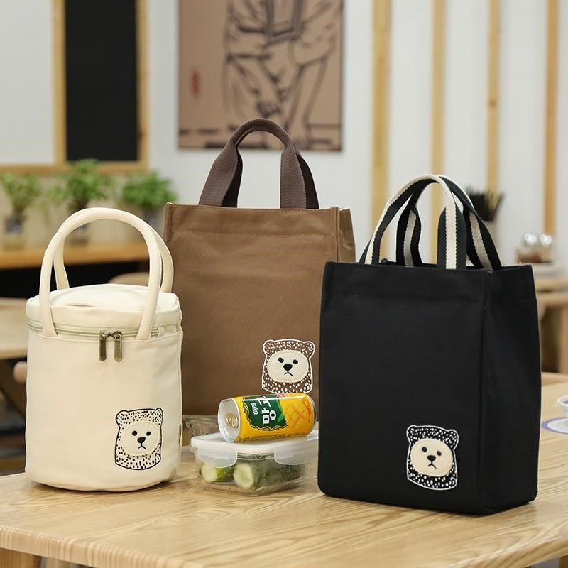 Heat preservation lunch box bag thickened aluminum foil barrel portable large capacity work with rice round tube bag hand carrying Lunch Bag